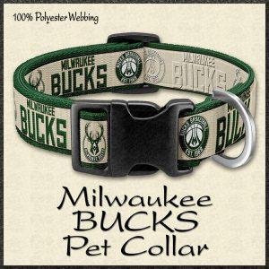 Milwaukee Bucks NBA Basketball Pet Collar Product Image No1