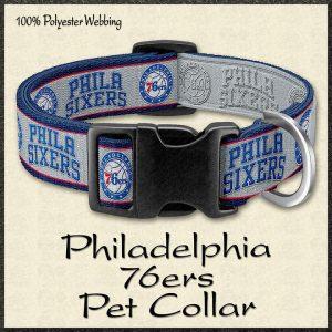 Philadelphia 76ers NBA Basketball Pet Collar Product Image No1