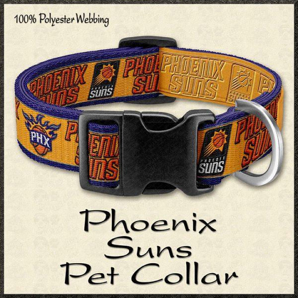 Phoenix Suns NBA Basketball Pet Collar Product Image No1