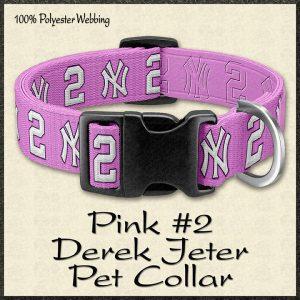 Pink Derek Jeter No2 NBA Basketball Pet Collar Product Image No1