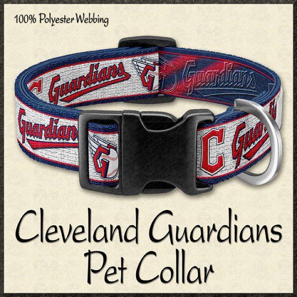 Cleveland Guardians MLB Baseball Pet Collar Product Image No1