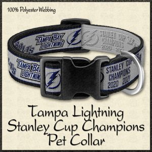 Tampa Bay Lightning Stanley Cup Champions Pet Collar Product Image No1